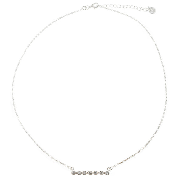 Vera CZ Bar Necklace