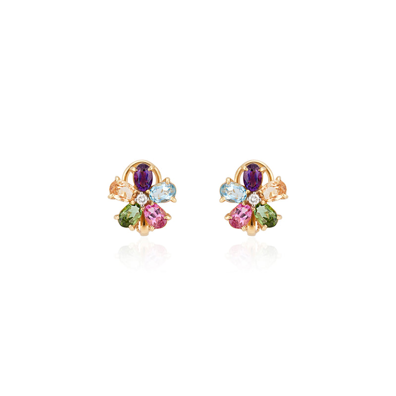 Maia, Multi Gemstone and Diamond Earrings