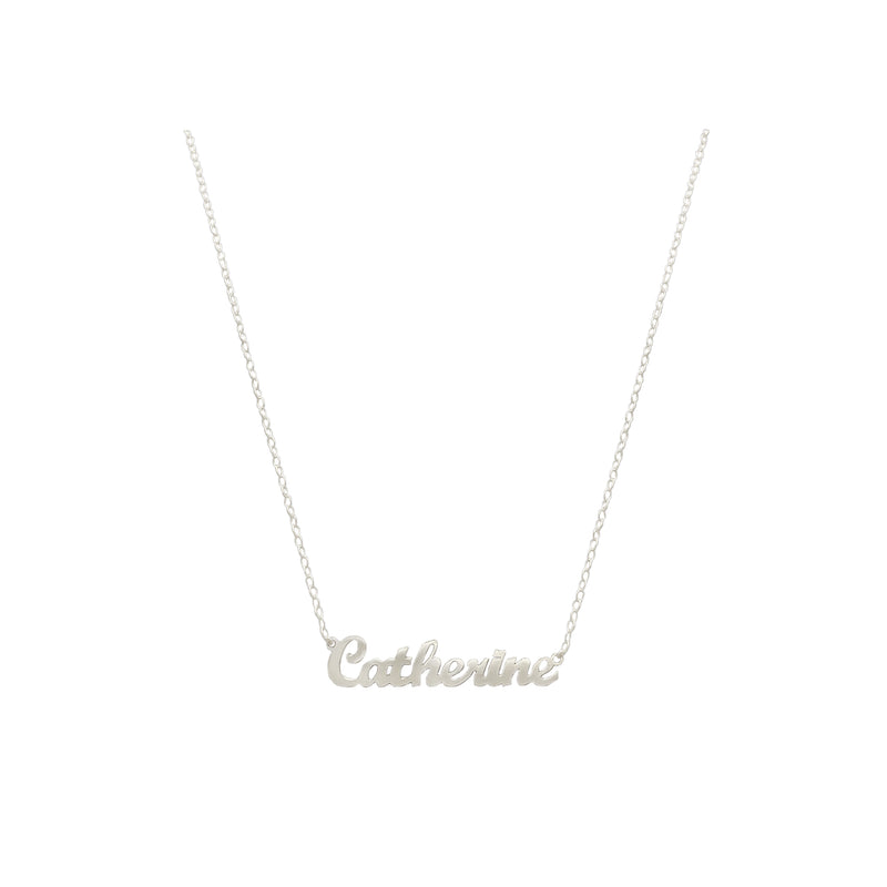 Custom Script Necklace, Sterling Silver