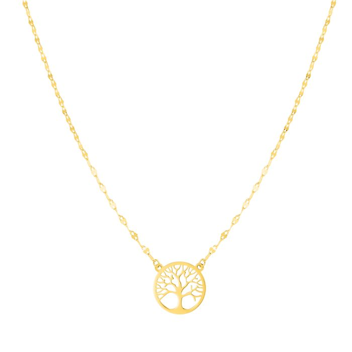 Tree Of Life, Necklace 14k Gold