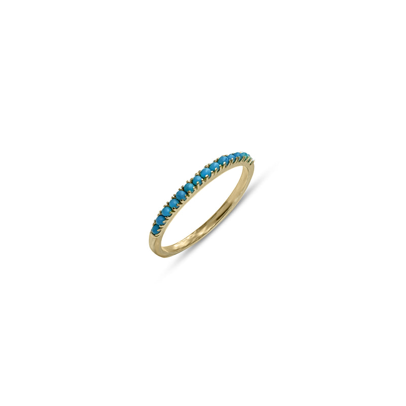 Sana, Half Eternity Turquoise Ring
