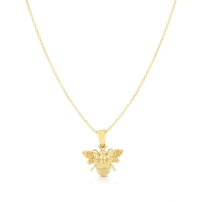 Queen Bee, 14k Gold Necklace
