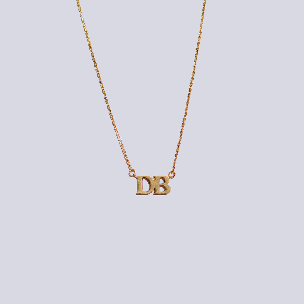 Handmade DB Necklace - 18k Gold