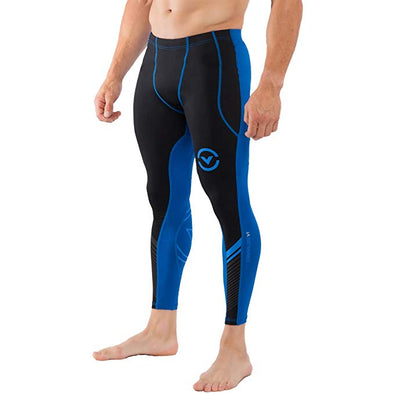 VIRUS / Men's Stay Cool Grappling Compression Spats BLACK/ELECTRIC BLUE (Co19) グラップリングコンプレッションスパッツ