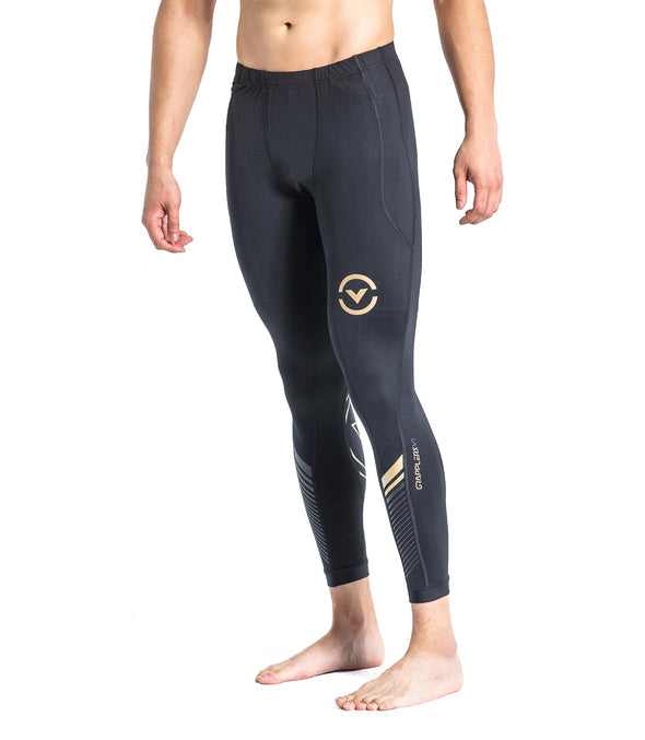 VIRUS / GRAPPLING COMPRESSION SPATS (AU19) BLACK/GOLD グラップリングコンプレッションスパッツ