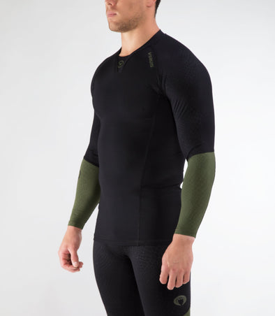 VIRUS / MEN'S VIPER STAY COOL LONG SLEEVE ラッシュガード (CO49) BLACK/OLIVE GREEN 長袖