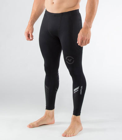 VIRUS / Men's Stay Cool Grappling Compression Spats BLACK/SILVER (Co19) グラップリングコンプレッションスパッツ