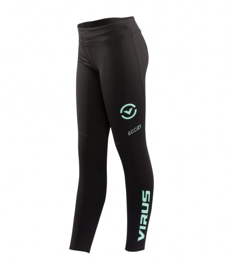 VIRUS / Women's Stay Cool V2 Compression Pants Black/Mint (ECO21) レディース コンプレッションパンツ