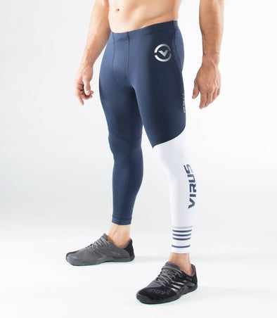 VIRUS / Men's Stay Cool Compression Pants (RX8) Navy/White ヴァイラス / メンズ ステイクール コンプレッション パンツ