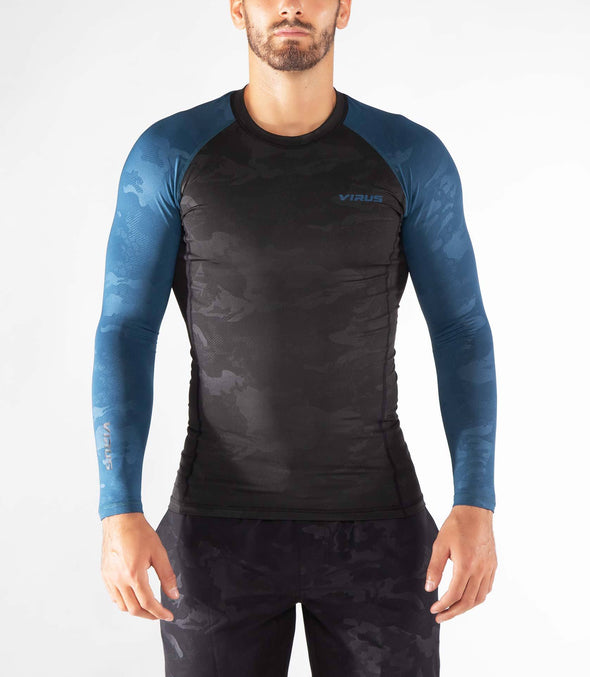 VIRUS / STAY WARM LONG SLEEVE COMPRESSION (SIO2) Space Blue/Camo 長袖 コンプレッション ラッシュガード