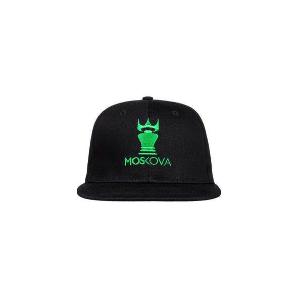 MOSKOVA / CORPO CROWN HAT BLACK/GREEN スナップバックキャップ