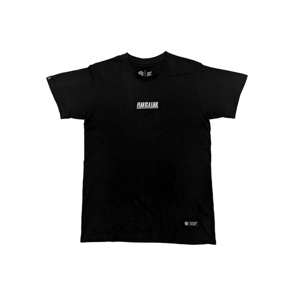 AESTHETIC / FEAR IS A LIAR Tシャツ BLACK