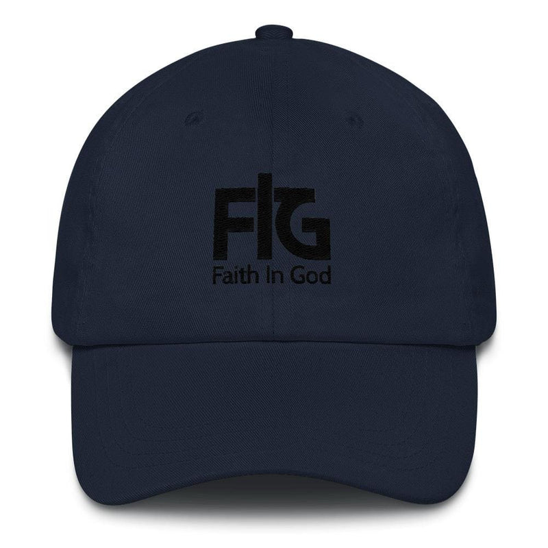 Dad Hat Faith In God 2 Black Unisex - Navy