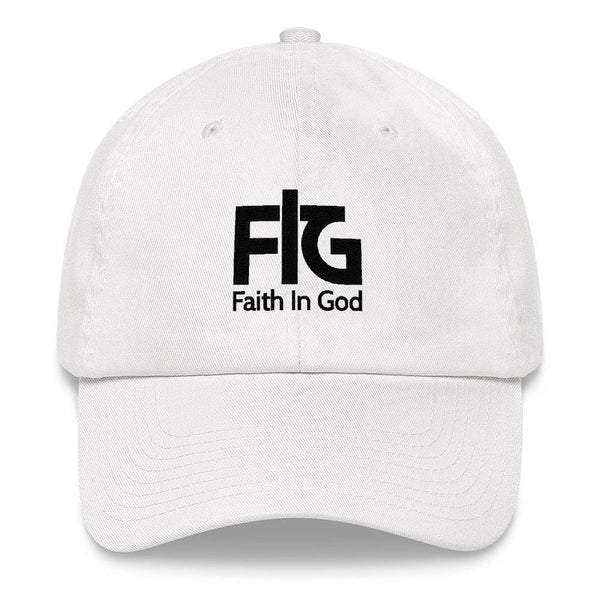 Dad Hat Faith In God 2 Black Unisex - White