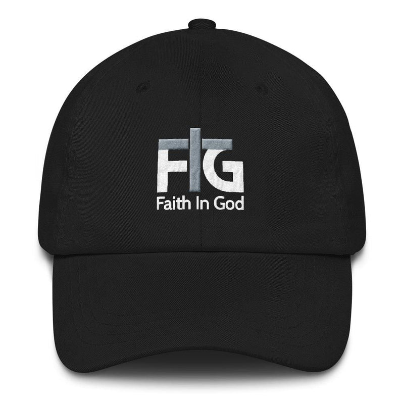 Dad Hat Faith In God 2 White Unisex - Black