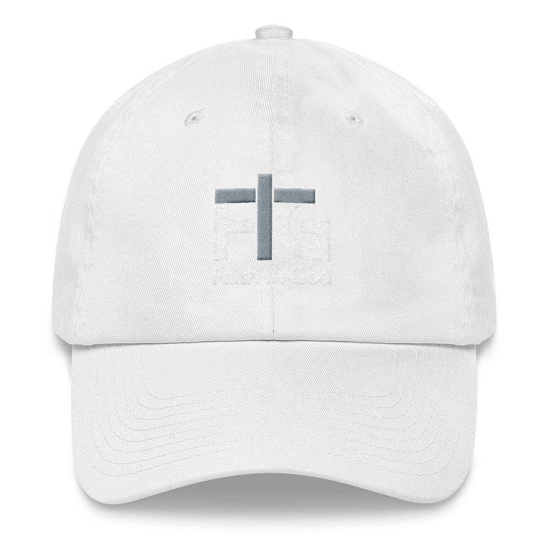 Dad Hat Faith In God 2 White Unisex - White