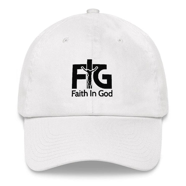 Dad Hat Faith in God 3 Black Unisex - White