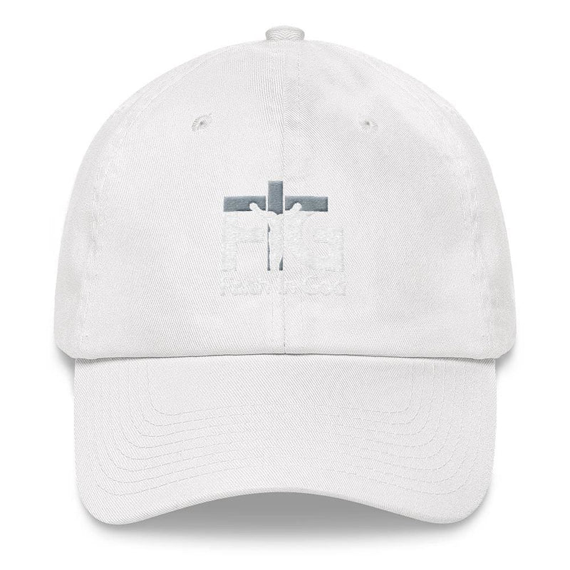Dad Hat Faith in God 3 White Unisex - White