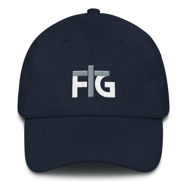 Dad Hat FIG 2 White Unisex - Navy