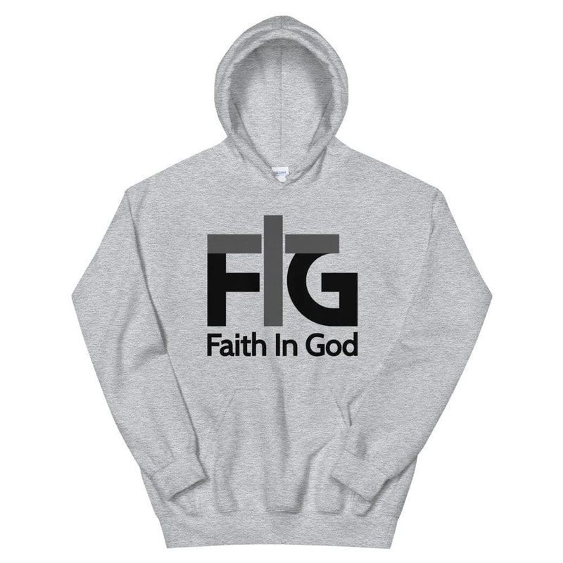 Hoodie Faith in God 2 Black Unisex - Sport Grey / S