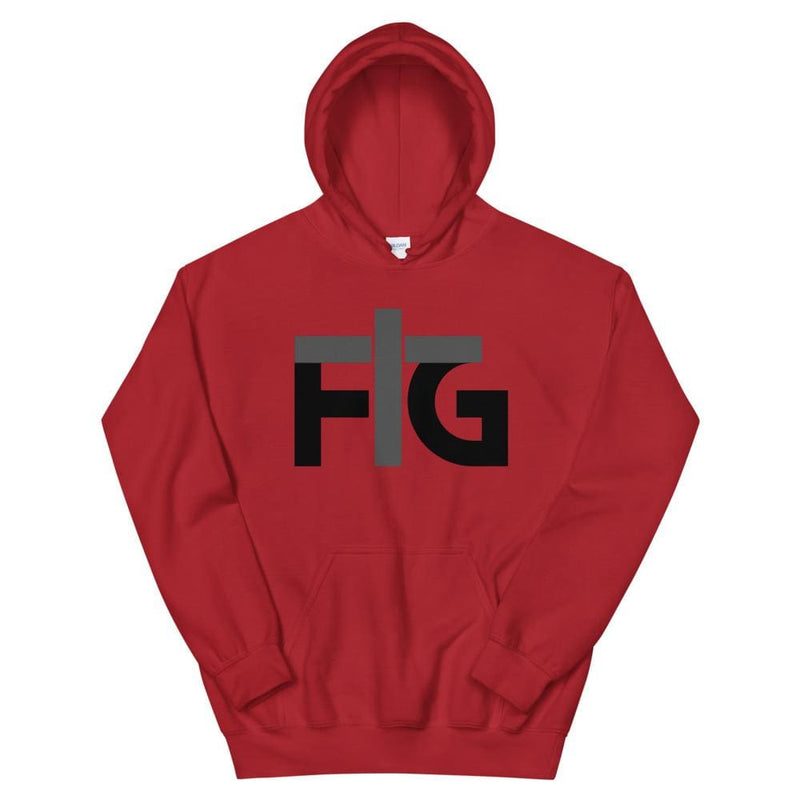 Hoodie FIG 2 Black Unisex - Red / S