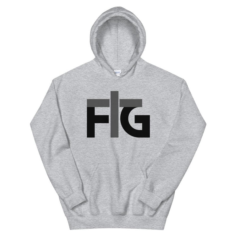 Hoodie FIG 2 Black Unisex - Sport Grey / S