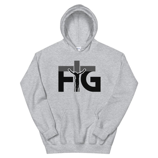 Hoodie FIG 3 Black Unisex - Sport Grey / S