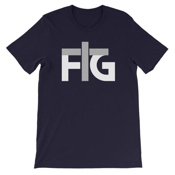 Short-Sleeve T-Shirt FIG 2 White Unisex - Navy / S