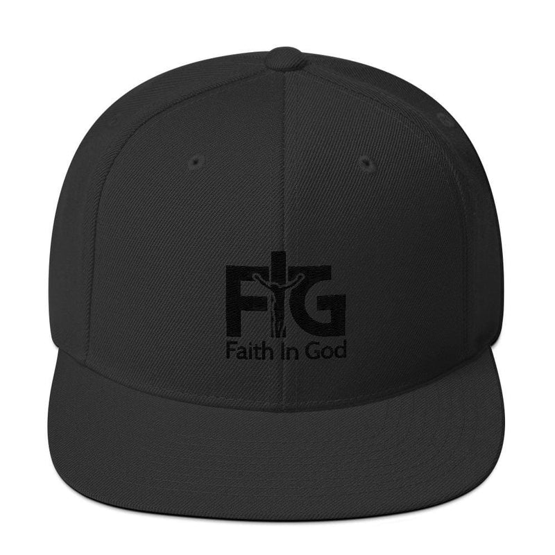 Snapback Hat Faith in God 3 Black Unisex - Black