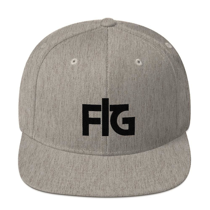 Snapback Hat FIG 2 Black Unisex - Heather Grey