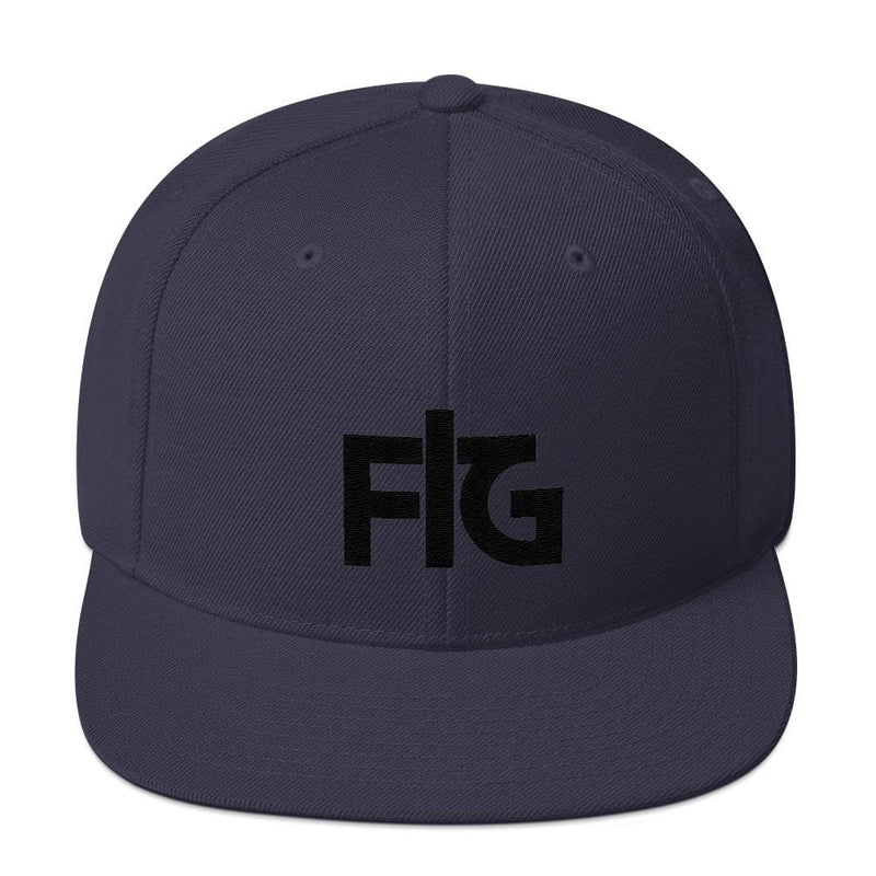 Snapback Hat FIG 2 Black Unisex - Navy