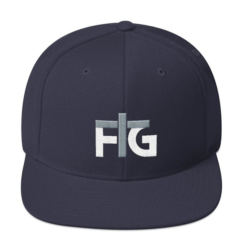 Snapback Hat FIG 2 White Unisex - Navy