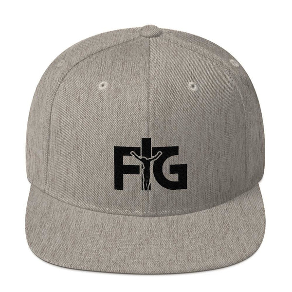 Snapback Hat FIG 3 Black Unisex - Heather Grey