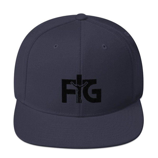Snapback Hat FIG 3 Black Unisex - Navy