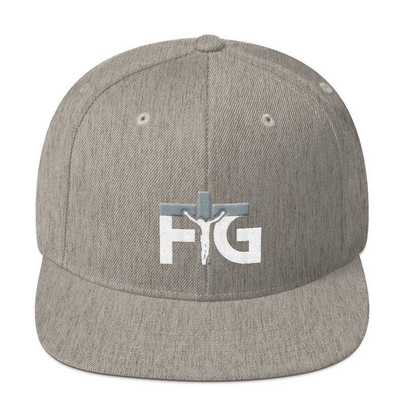 Snapback Hat FIG 3 White Unisex - Heather Grey