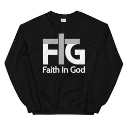 Sweatshirt Faith in God 2 White Unisex - Black / S
