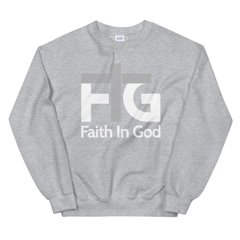 Sweatshirt Faith in God 2 White Unisex - Sport Grey / S