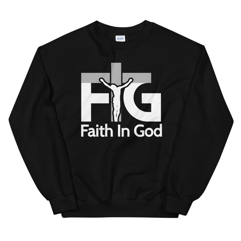 Sweatshirt Faith in God 3 White Unisex - Black / S