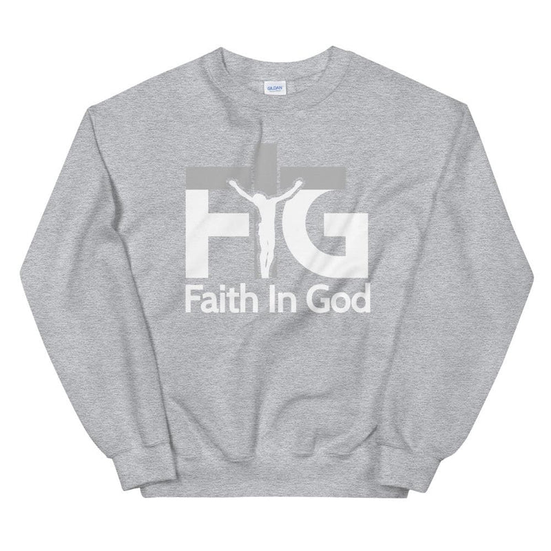 Sweatshirt Faith in God 3 White Unisex - Sport Grey / S