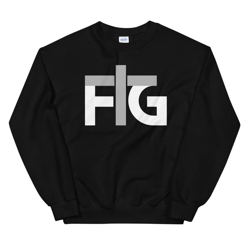 Sweatshirt FIG 2 White Unisex - Black / S