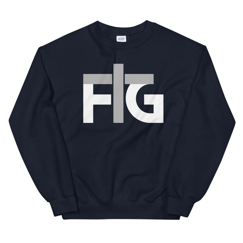 Sweatshirt FIG 2 White Unisex - Navy / S