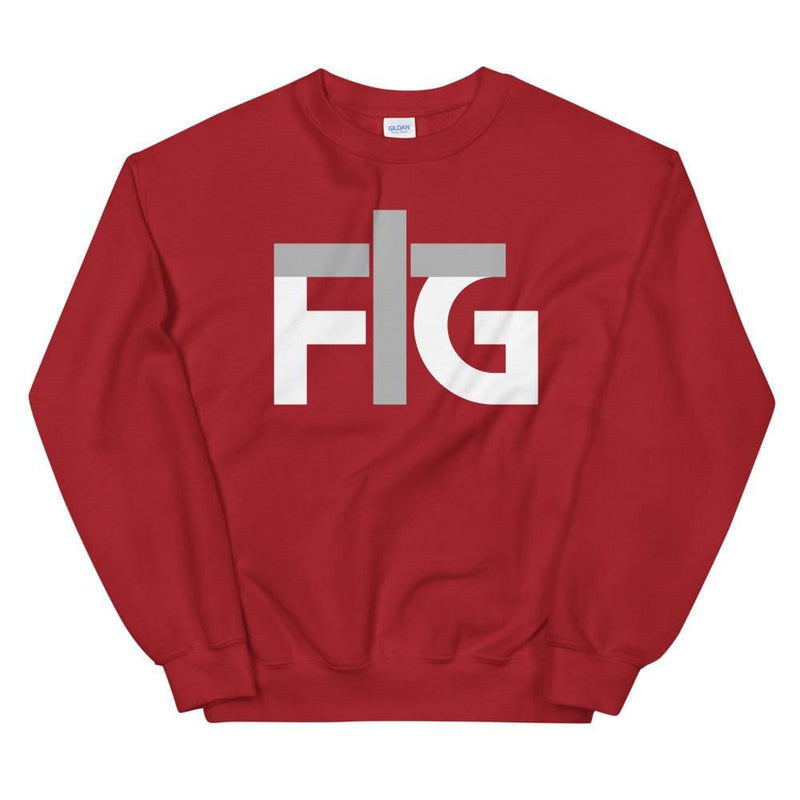 Sweatshirt FIG 2 White Unisex - Red / S