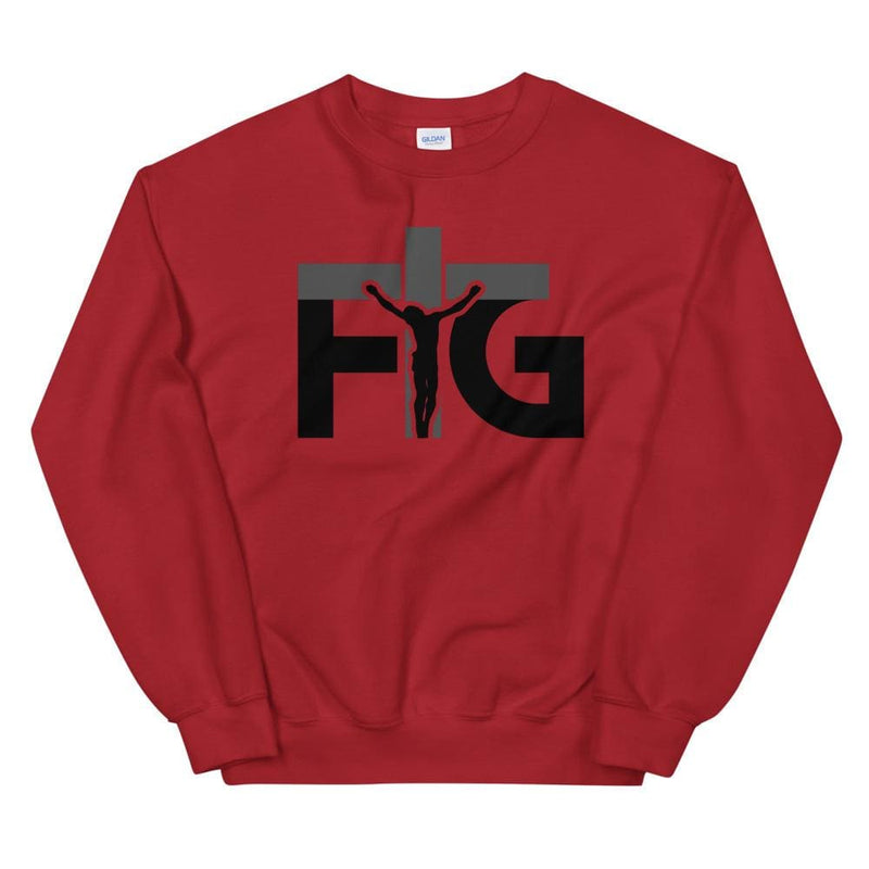 Sweatshirt FIG 3 Black Unisex - Red / S