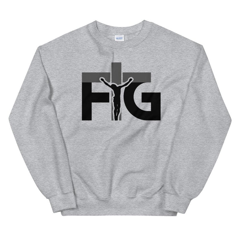 Sweatshirt FIG 3 Black Unisex - Sport Grey / S
