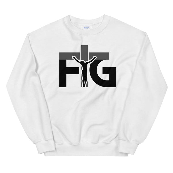 Sweatshirt FIG 3 Black Unisex - White / S