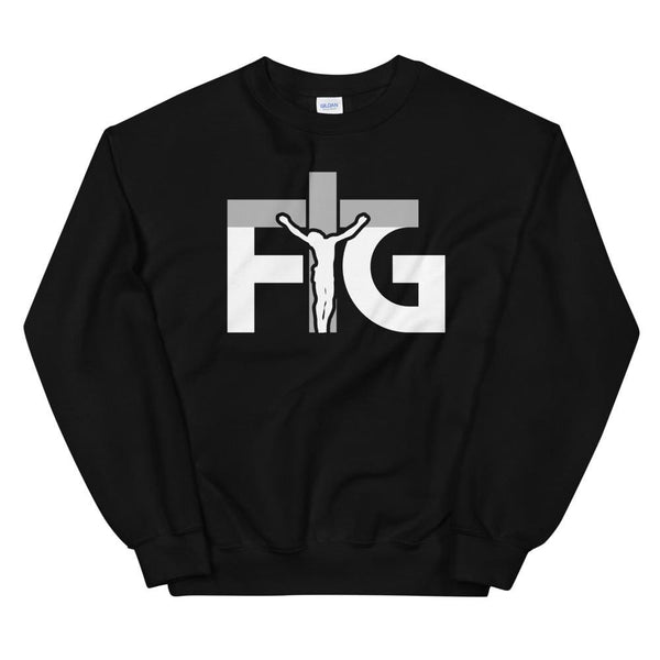 Sweatshirt FIG 3 White Unisex - Black / S