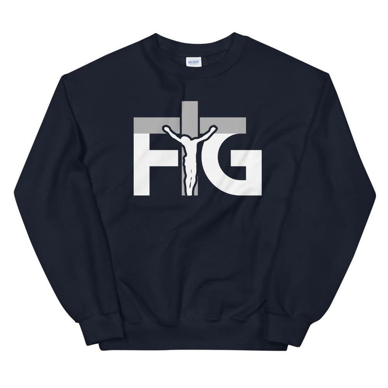 Sweatshirt FIG 3 White Unisex - Navy / S