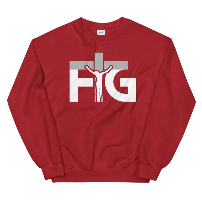 Sweatshirt FIG 3 White Unisex - Red / S
