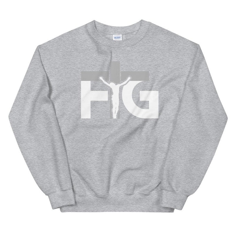 Sweatshirt FIG 3 White Unisex - Sport Grey / S