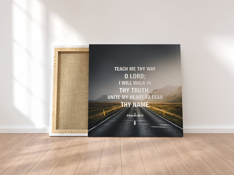 """Teach Me Thy Way"" Canvas Wraps"